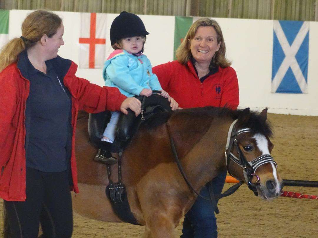RDA Darcy with Petra and Emma on Inky Dinky Saddle